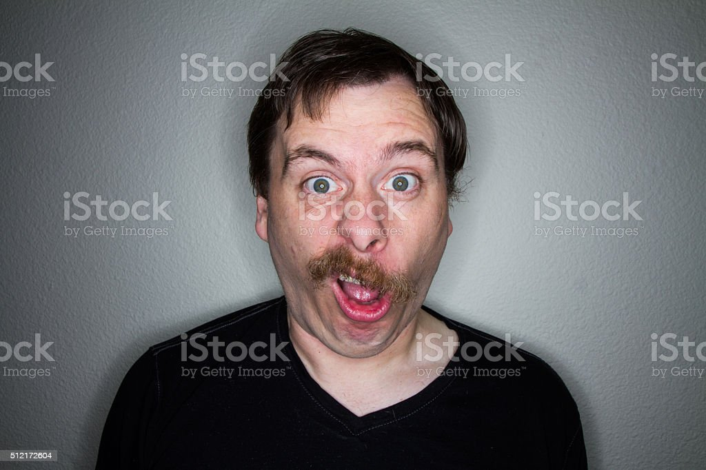 what a face this guy makes stock photo