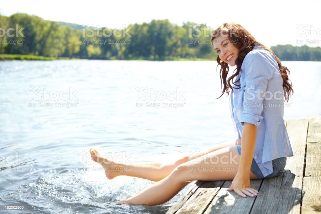 What a fantastic summer day! stock photo