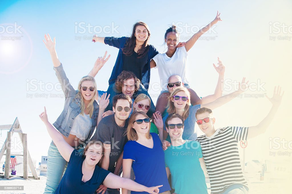 What a fun to be here in St.Peter-Ording,Germany! stock photo