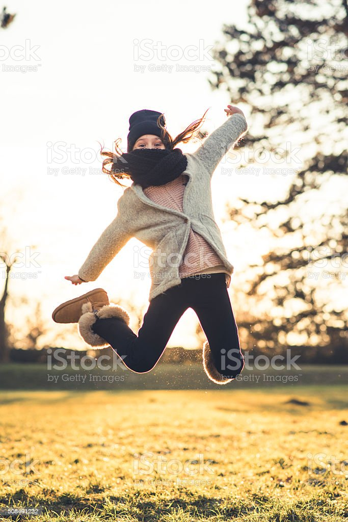 What a great feeling! stock photo