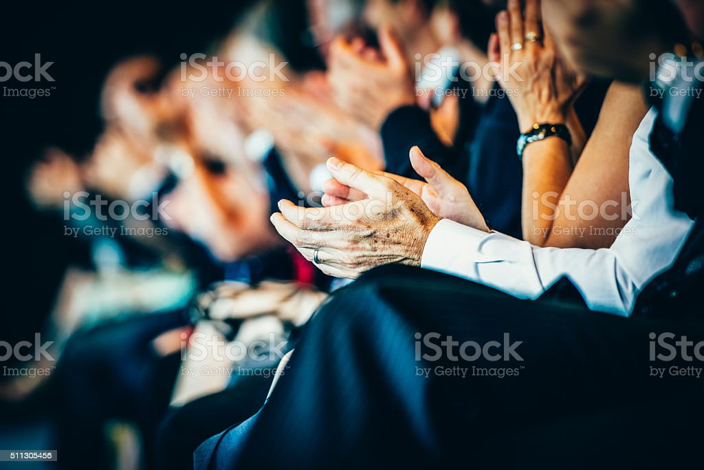 What a great speech! stock photo