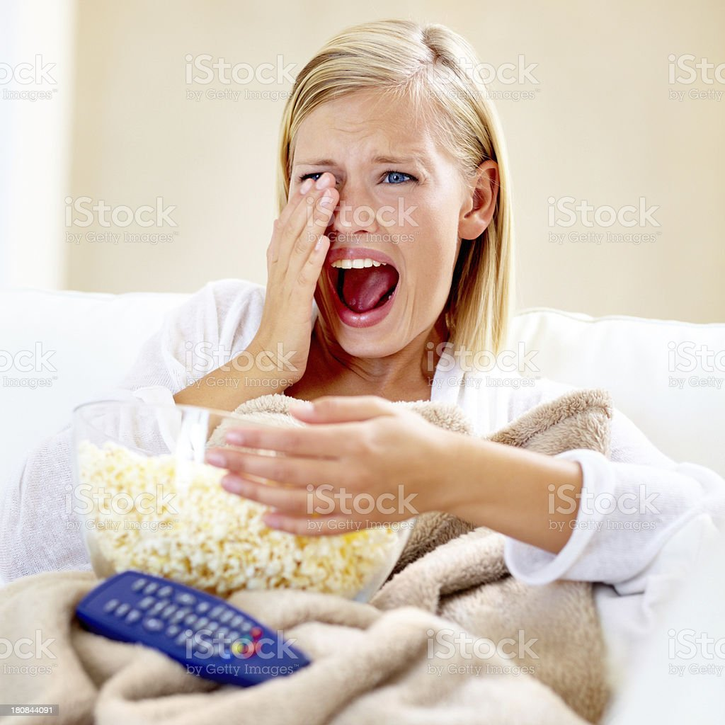 What a gruesome movie! royalty-free stock photo