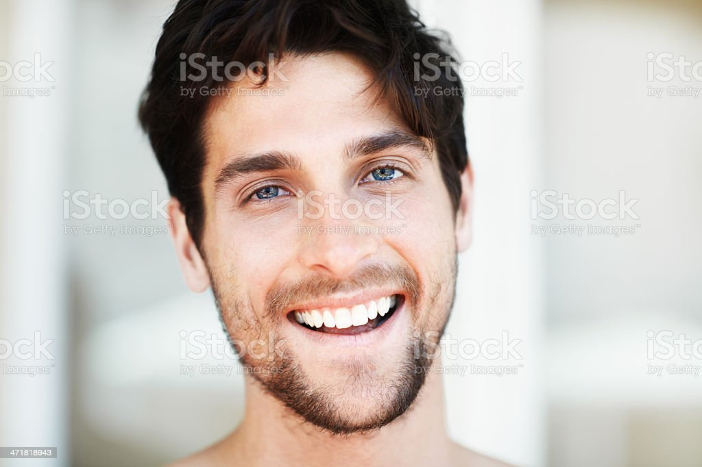 What a handsome smile! royalty-free stock photo