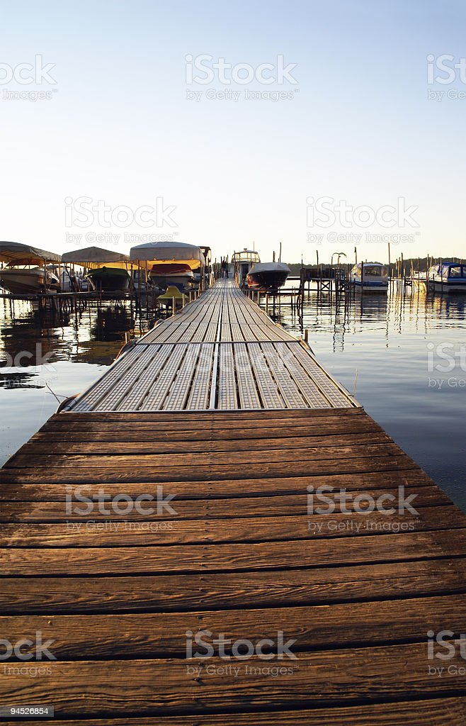 What a Long Dock royalty-free stock photo
