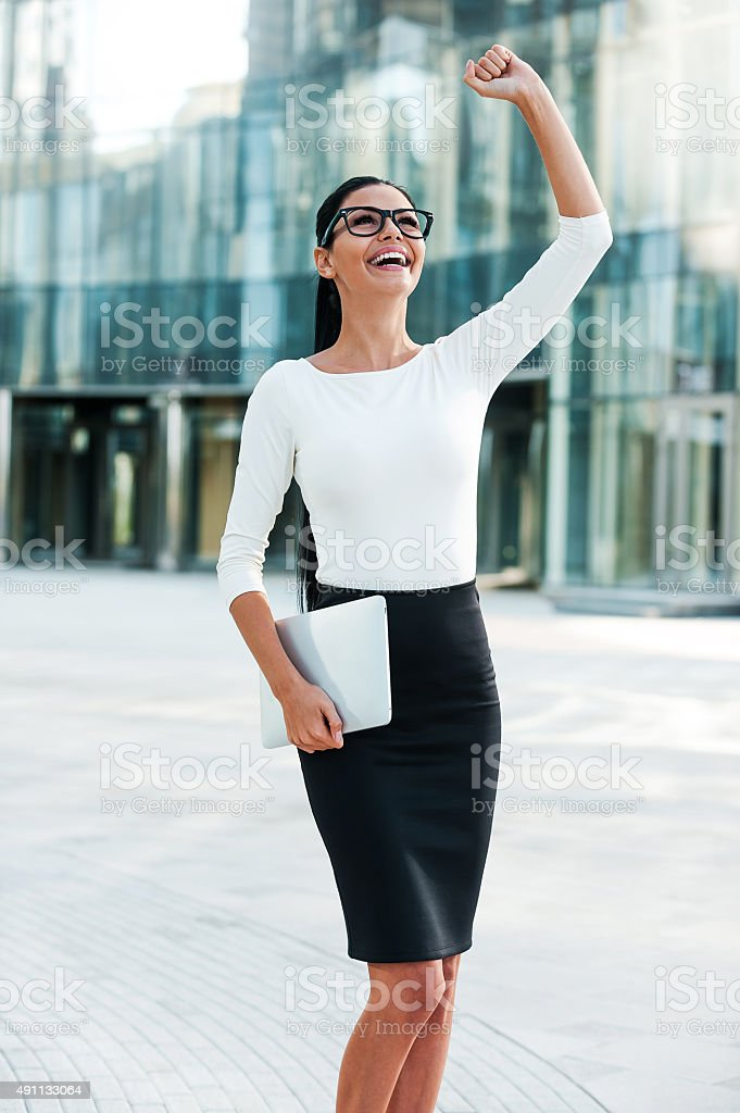 What a lucky day! stock photo