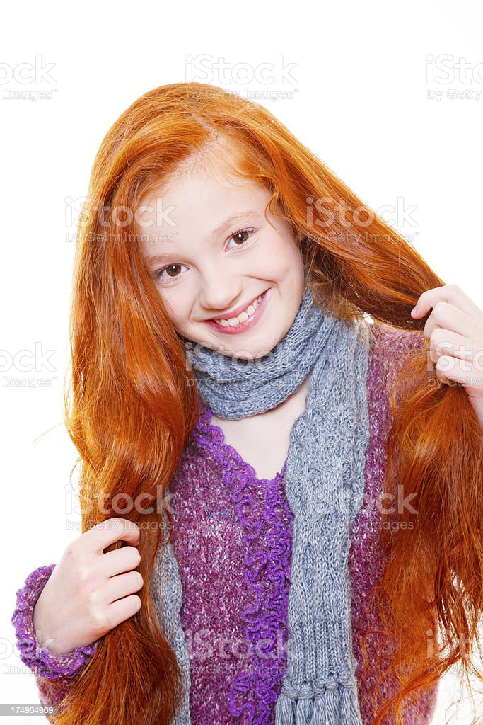 What a positive smile of this red-head! royalty-free stock photo