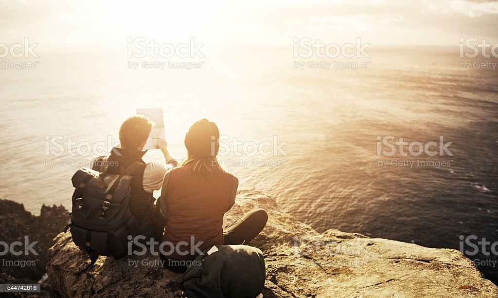 What a view! stock photo