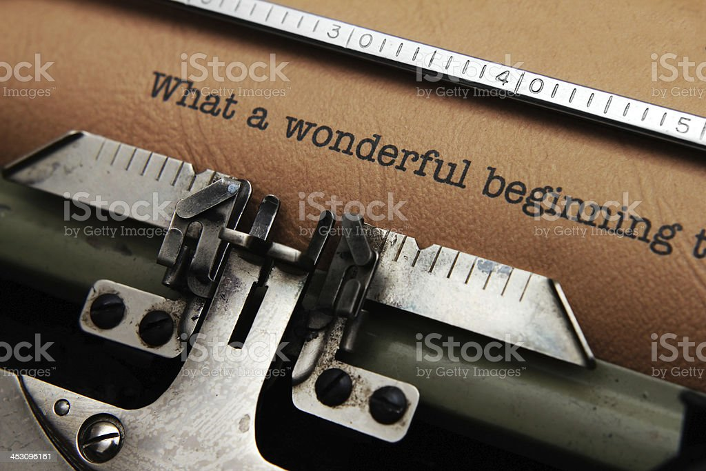 What a wonderful  beginning royalty-free stock photo