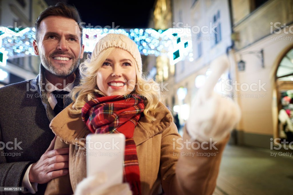 What a wonderful night can be at winter time stock photo