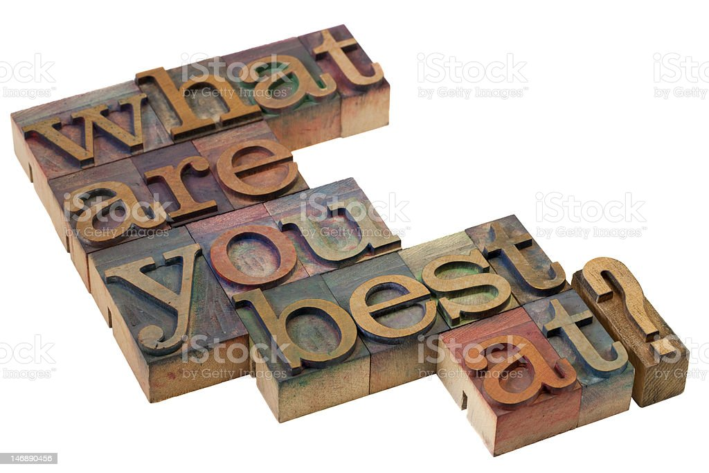 what are you best at? royalty-free stock photo