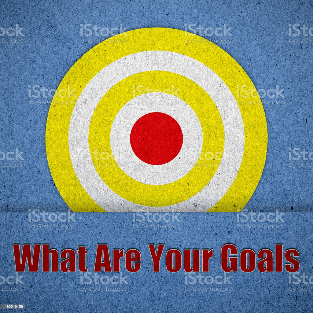 What Are Your Goals on blue paper texture stock photo