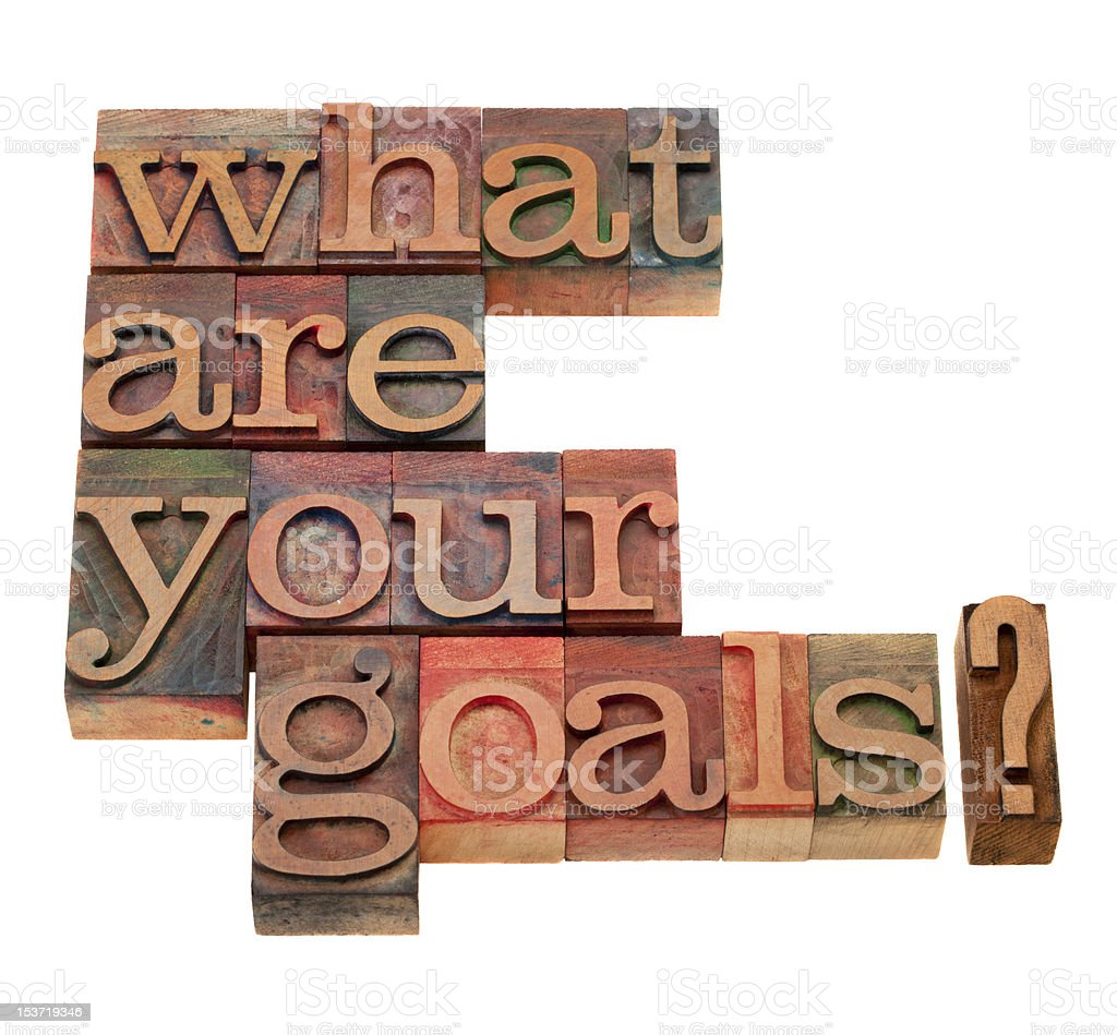 what are your goals question royalty-free stock photo