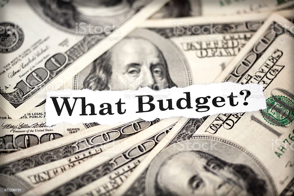 what budget? stock photo