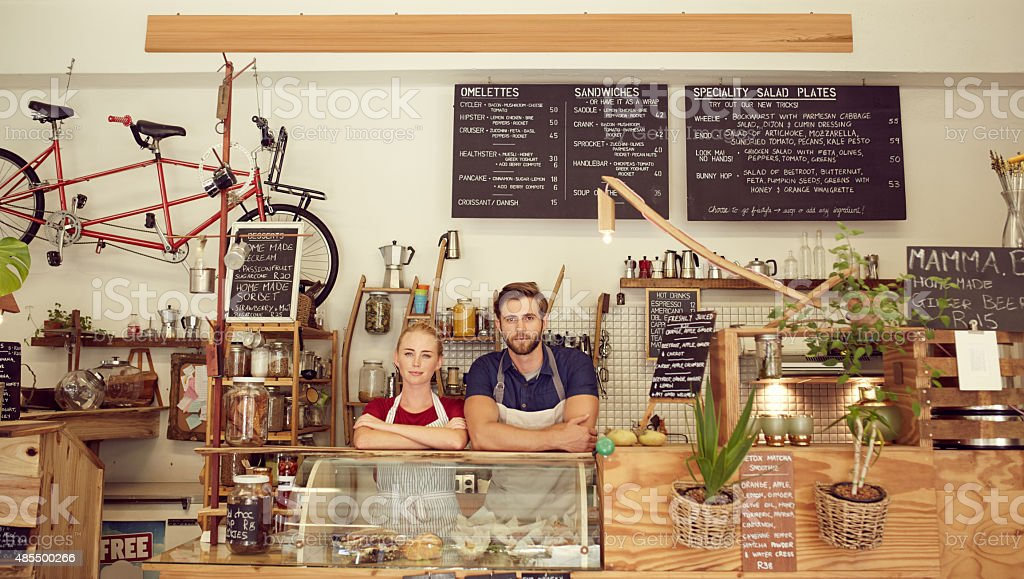 What can we get for you? stock photo