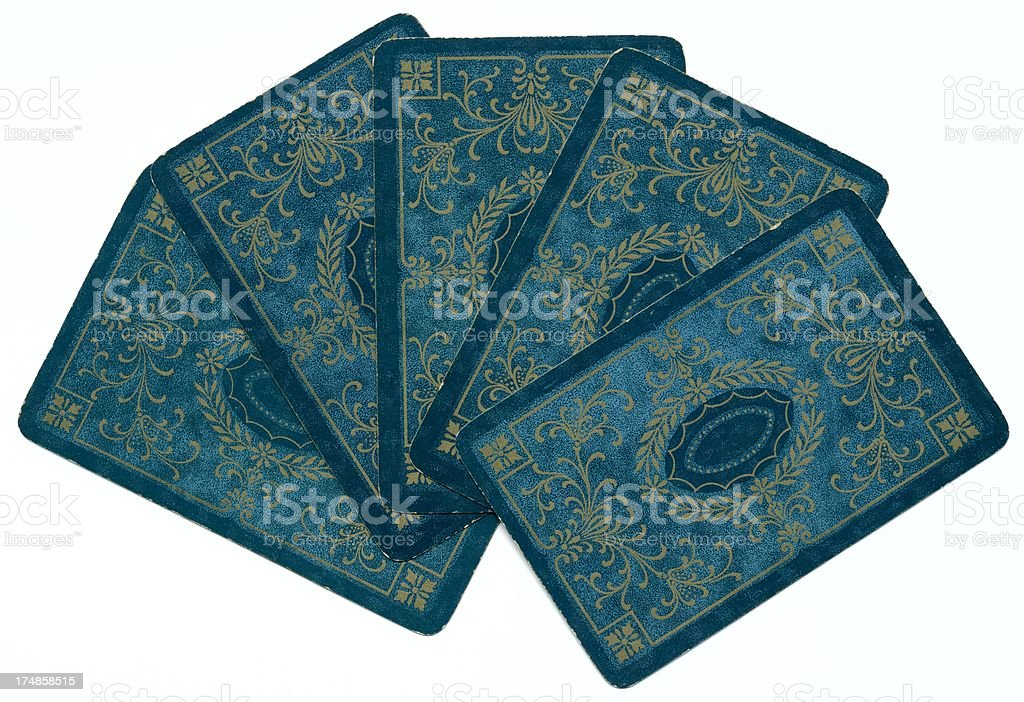 Poker opponent holding the Dondorf cards is in control stock photo