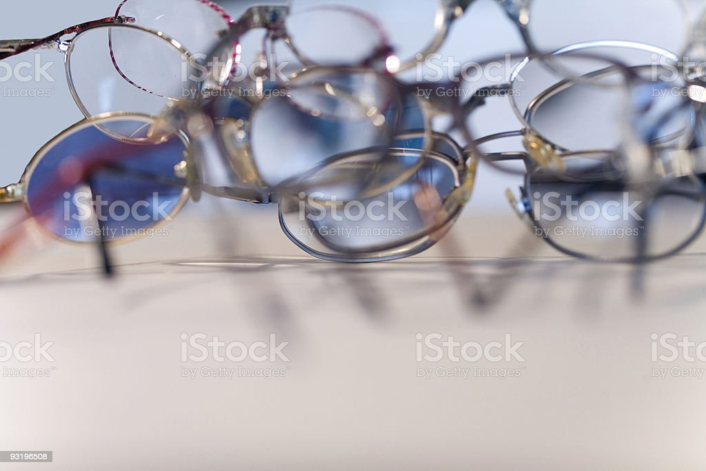 What did I do with my reading glasses? stock photo