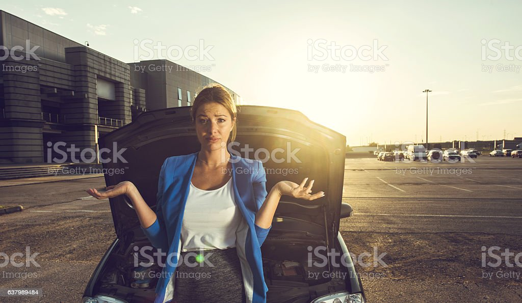 What do I do with my car now? stock photo