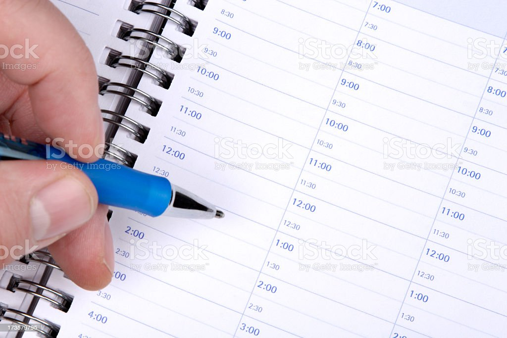 What Do You Have Planned For Today? stock photo
