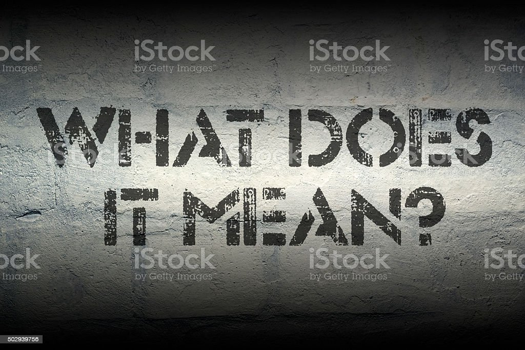 what does it mean stock photo