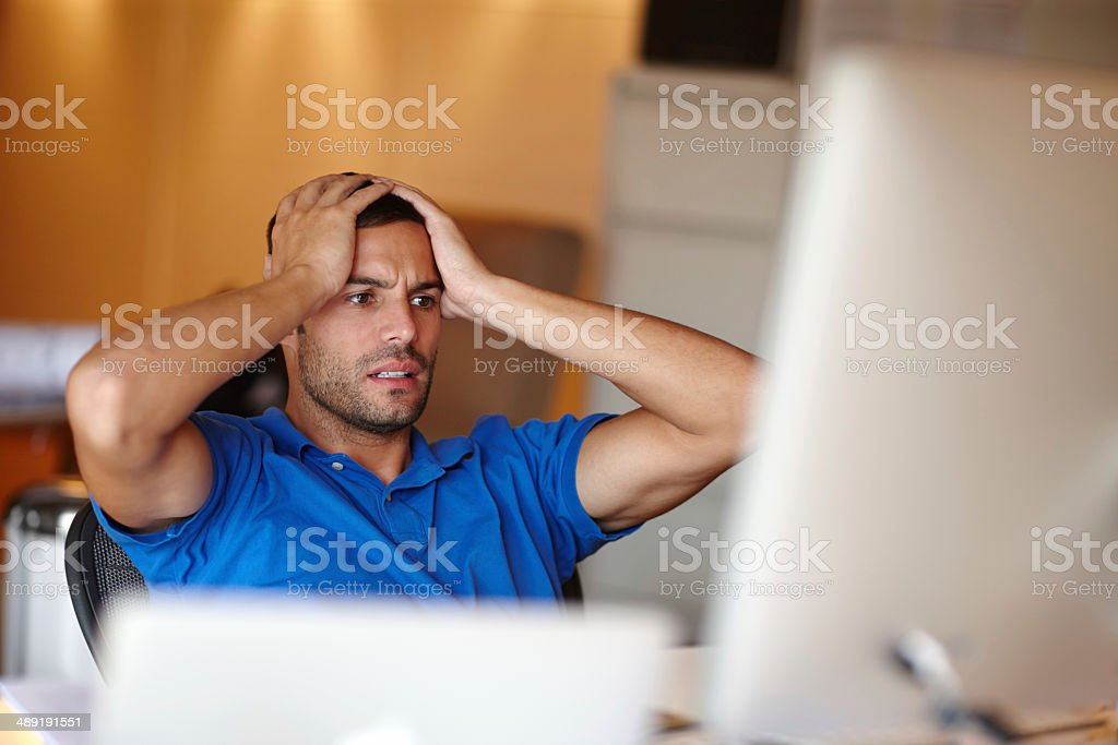 What have I done?! stock photo
