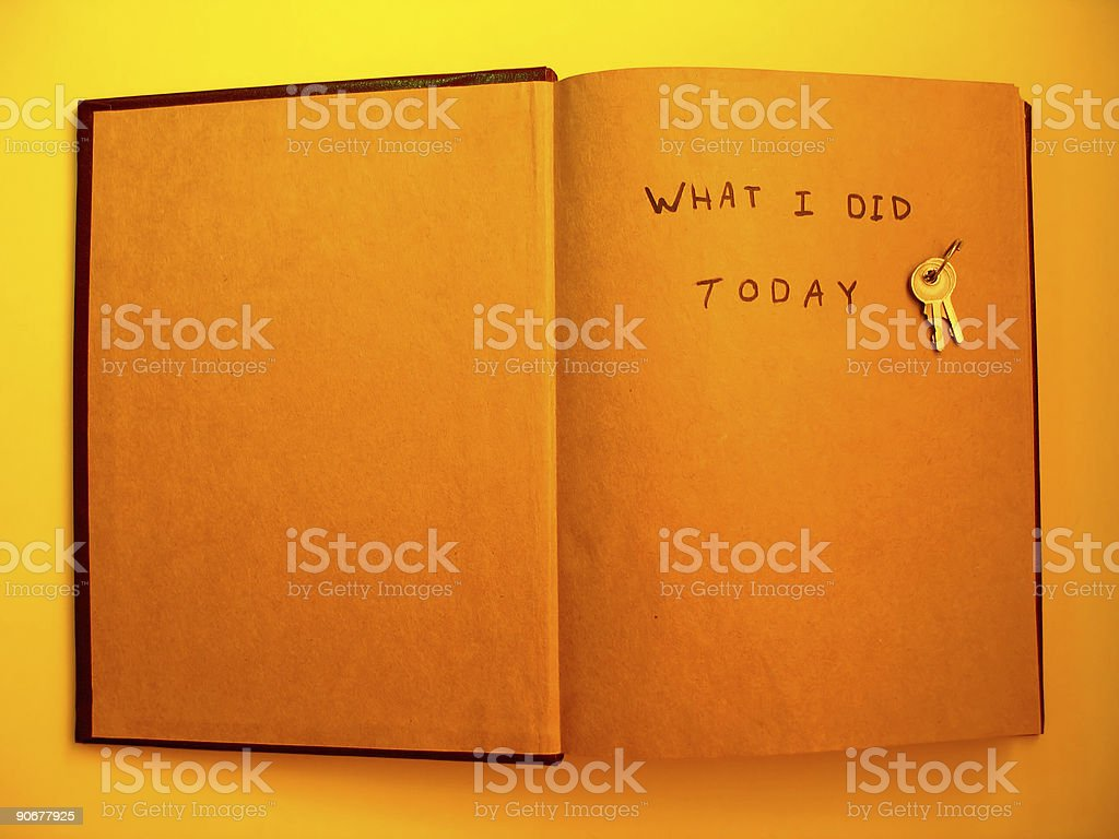 What I did today royalty-free stock photo
