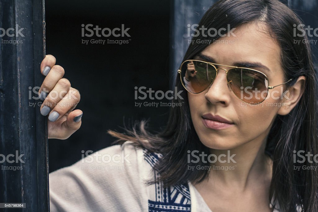What is behind the door? stock photo