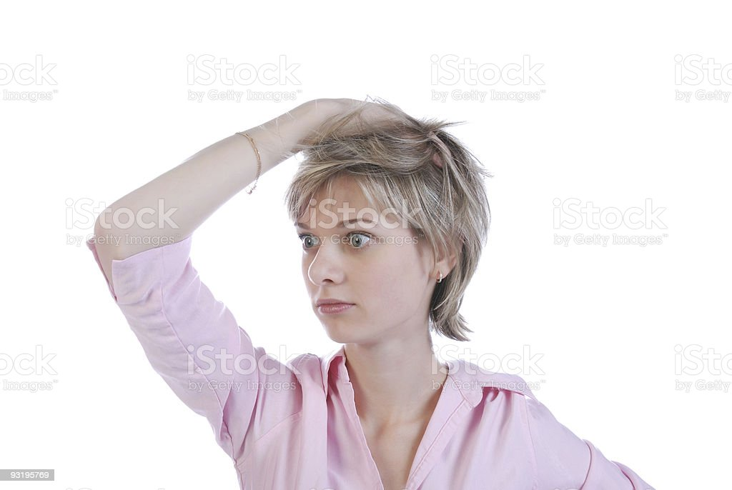 What is going on?! stock photo