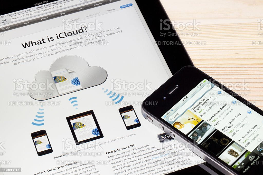 What is iCloud? stock photo