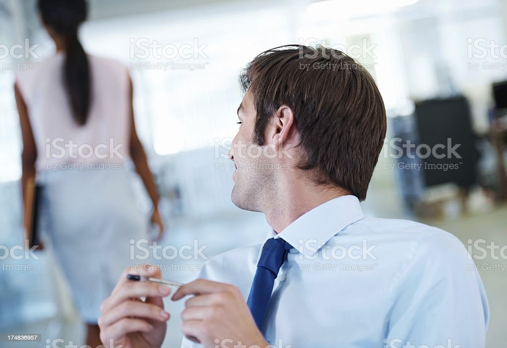 What is inappropriate in the workplace? stock photo