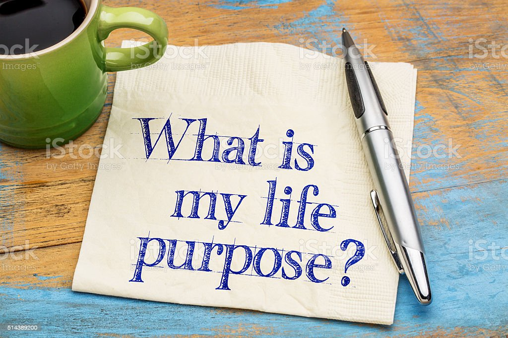 What is my life purpose? stock photo