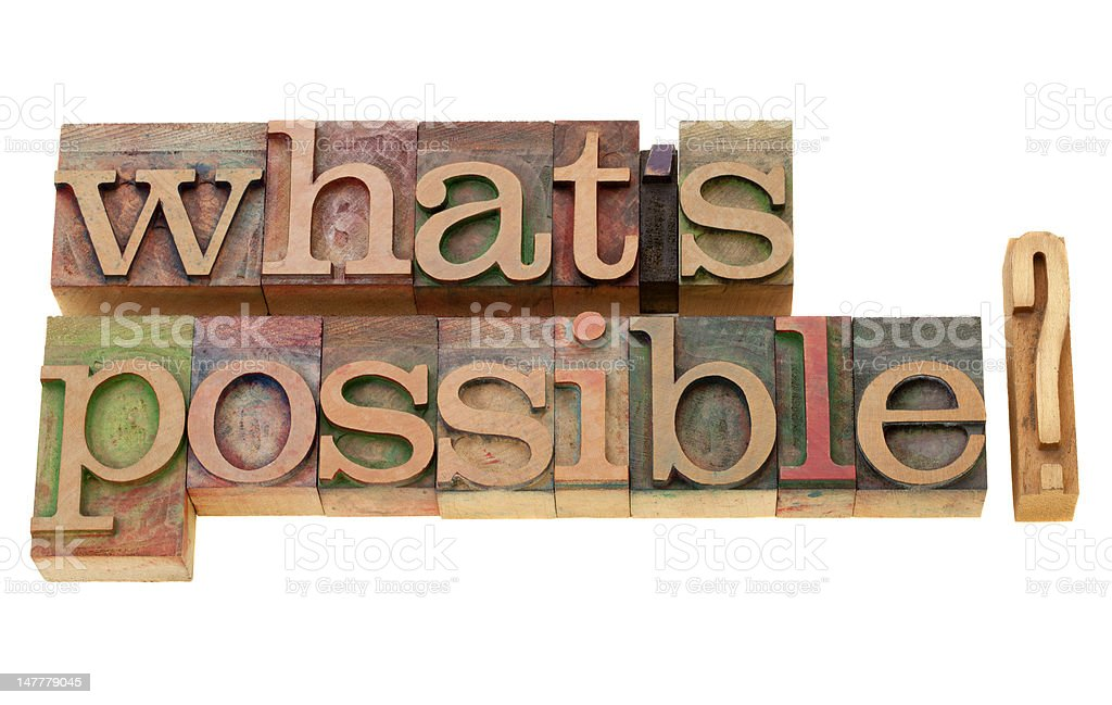what is possible? stock photo