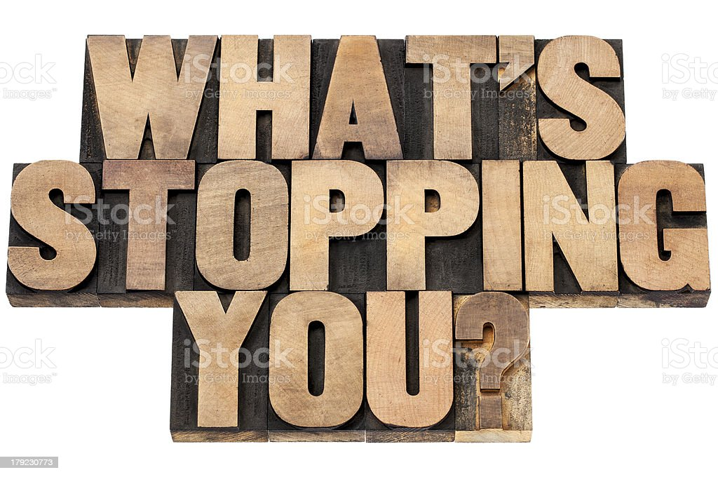 what is stopping you question royalty-free stock photo