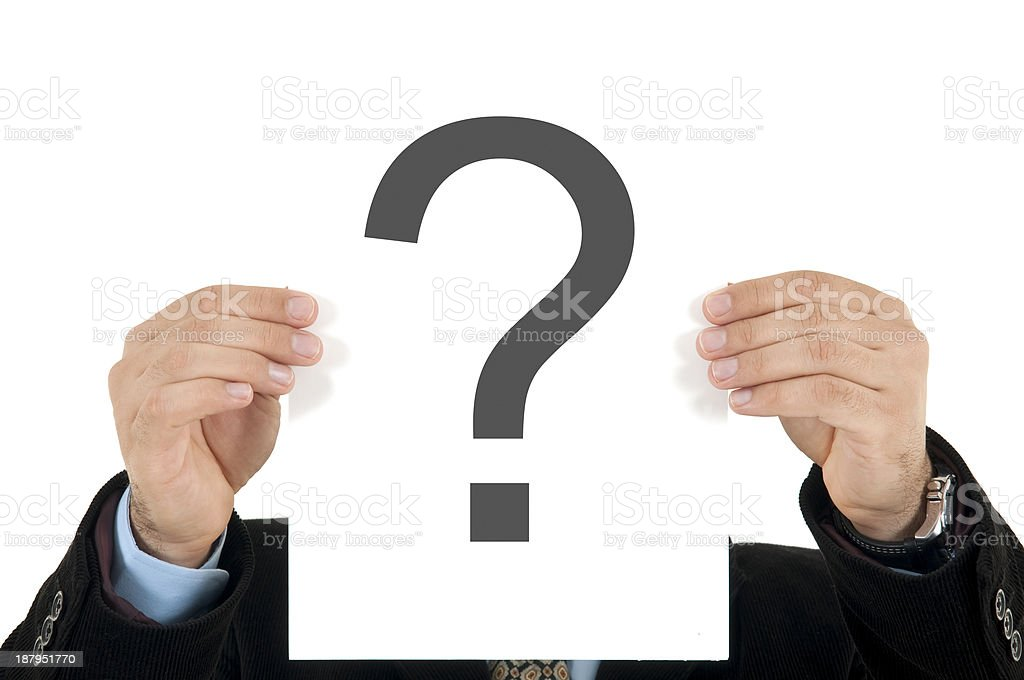 what is the answer royalty-free stock photo
