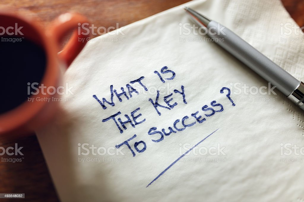 What is the key to success stock photo