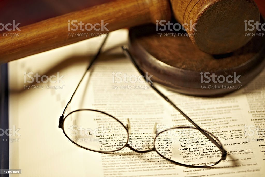 What is the law really stock photo
