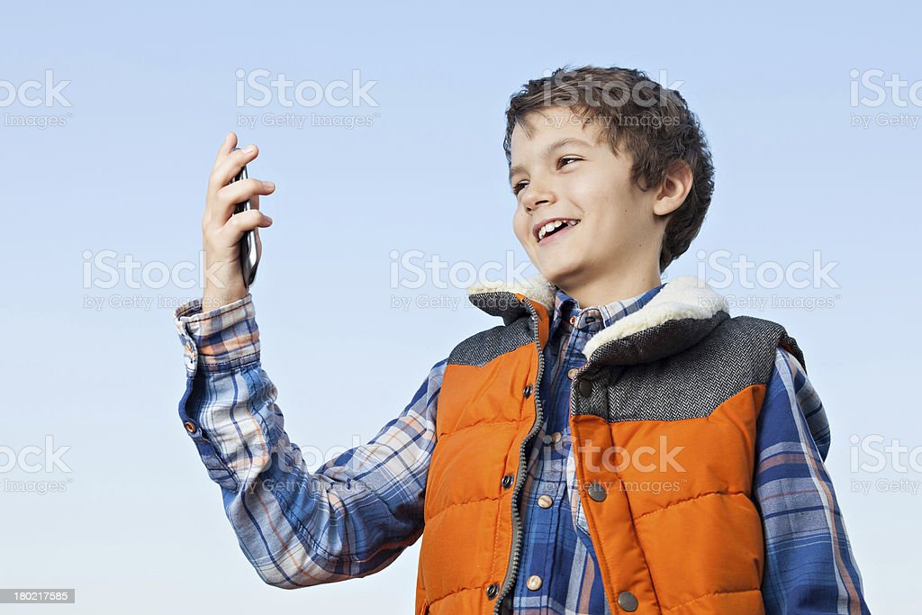 What is this on the phone? royalty-free stock photo