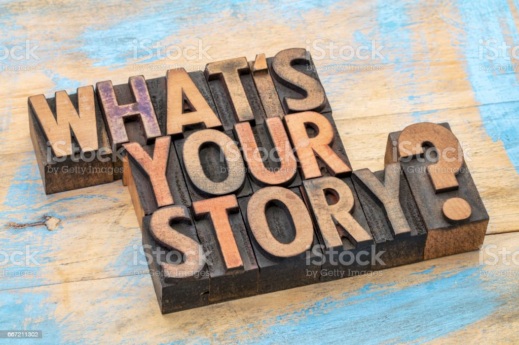 what is you story question stock photo