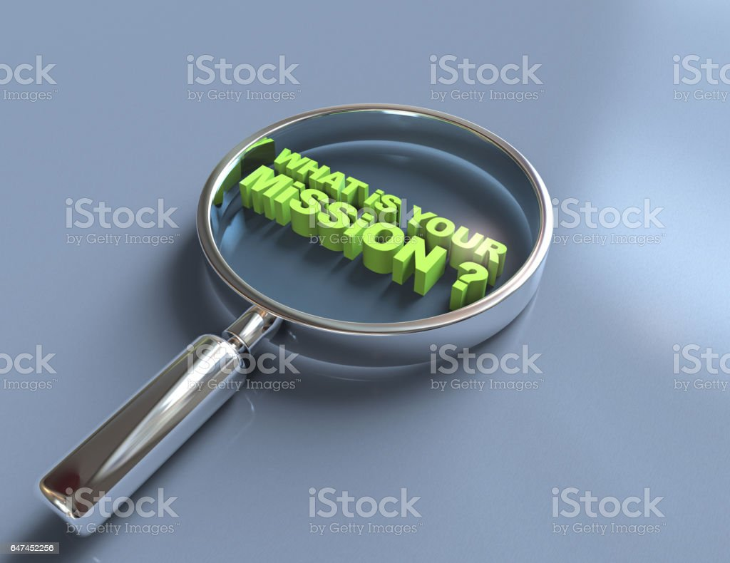 What is your mission ? stock photo