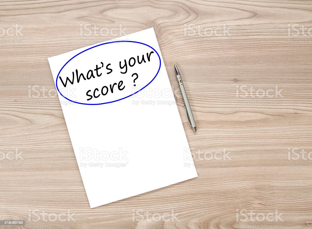What is your score ? stock photo