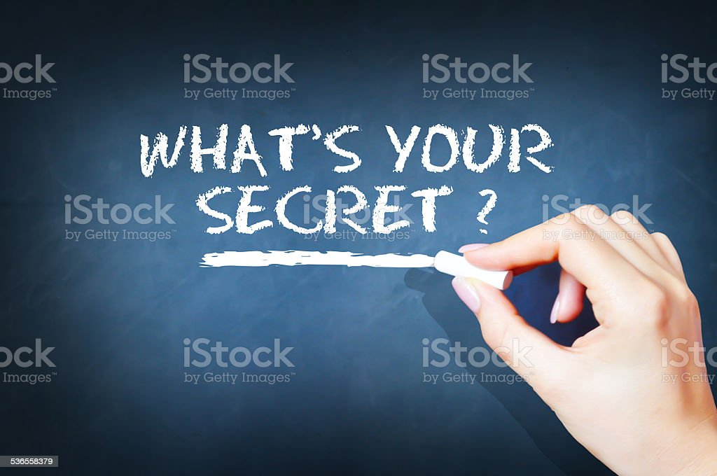 What is your secret question stock photo