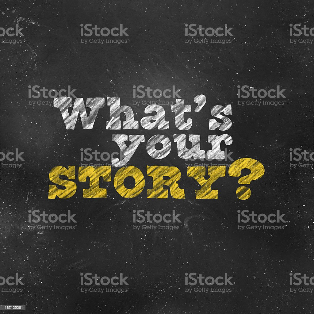 What Is Your Story royalty-free stock photo