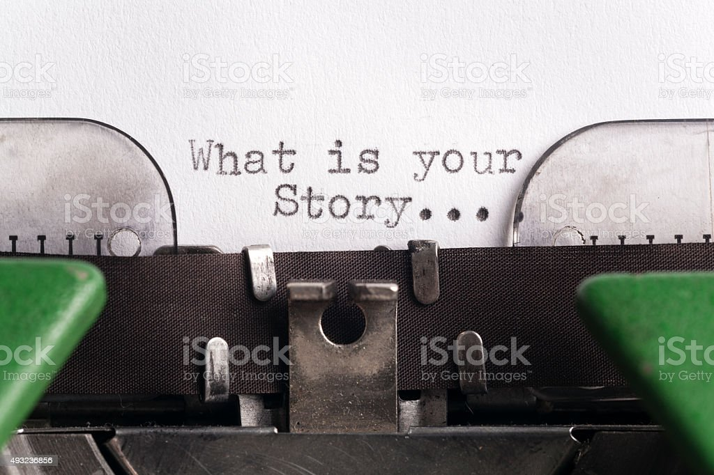 What is your story... stock photo
