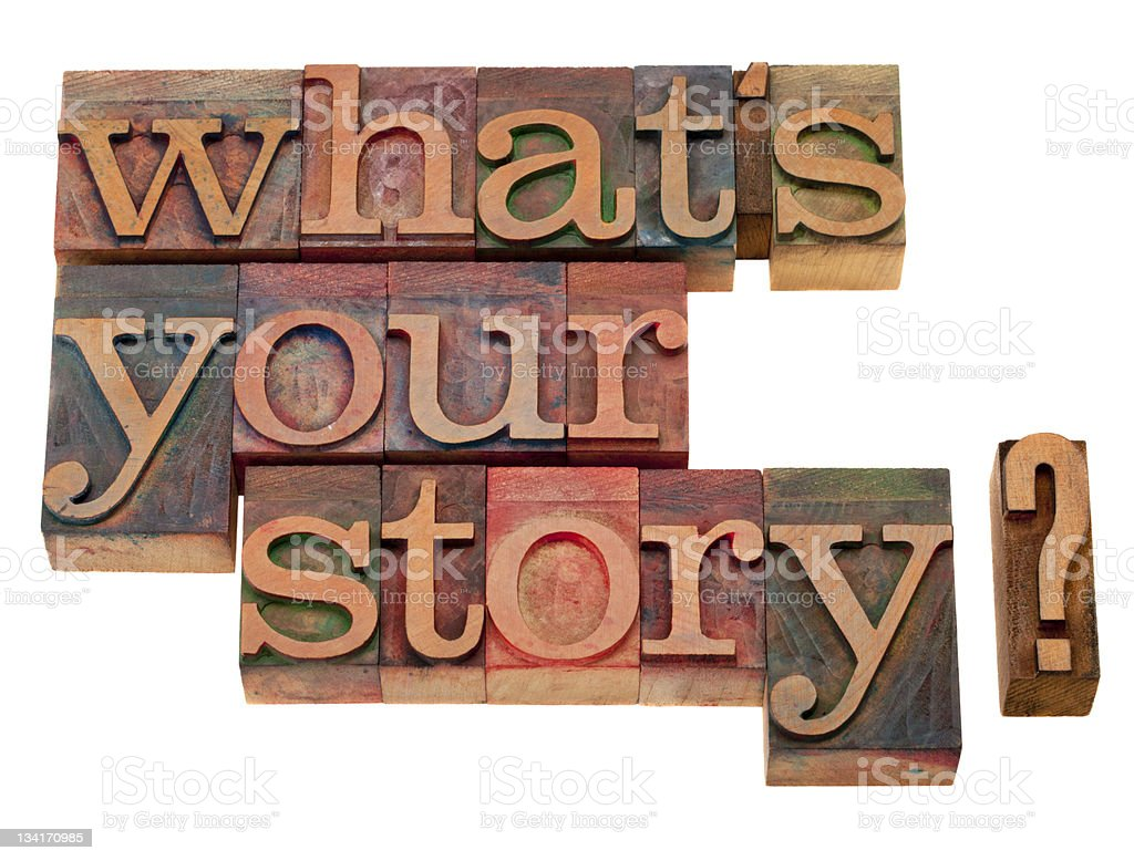 what is your story question stock photo