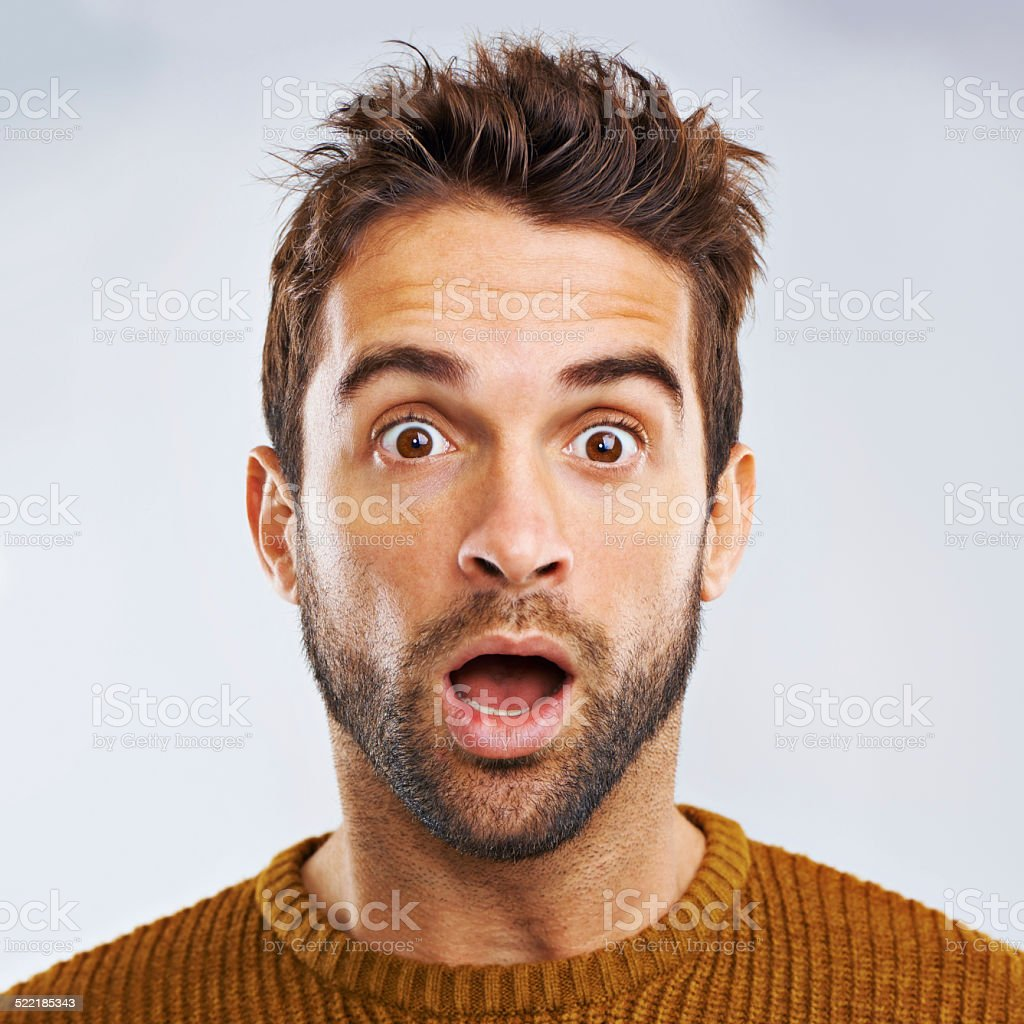 What just happened?? stock photo
