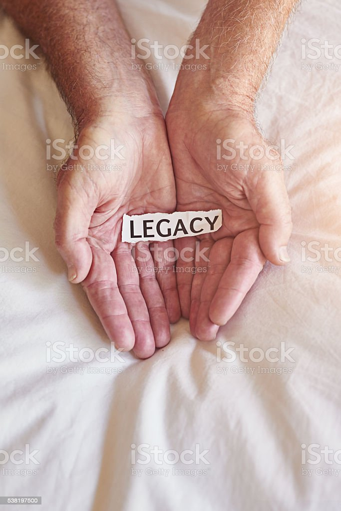 What legacy will you leave? stock photo