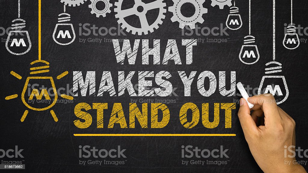 What Makes You Stand out stock photo