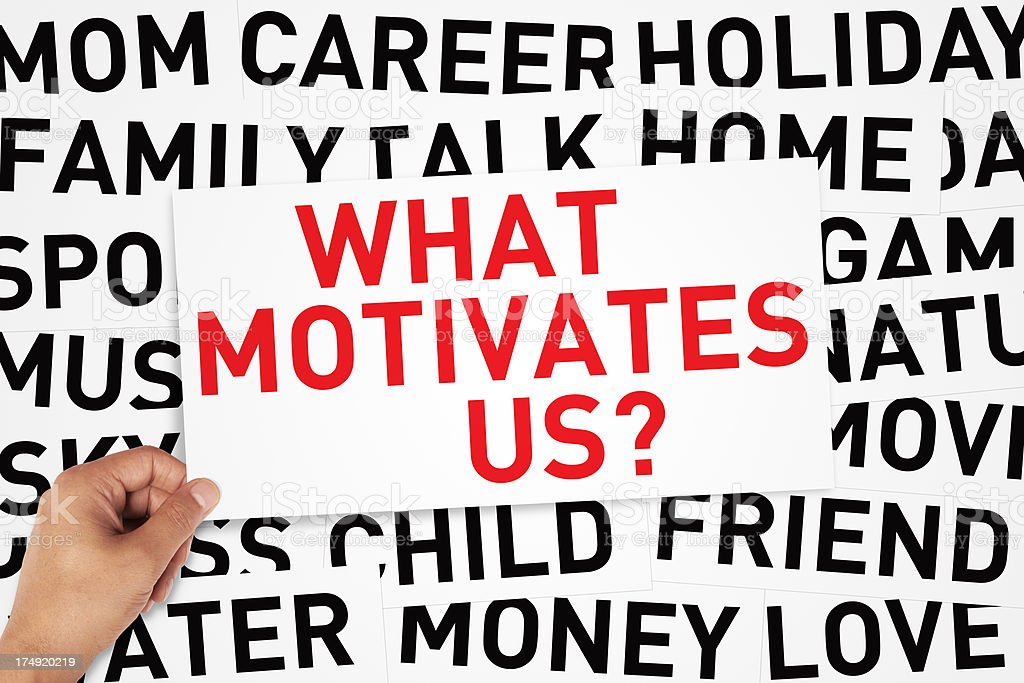 What motivates us? royalty-free stock photo