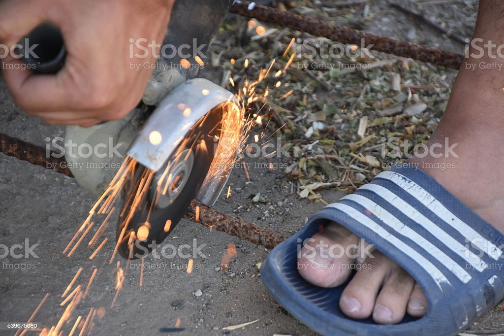 What not to do, Work Safety Concept stock photo