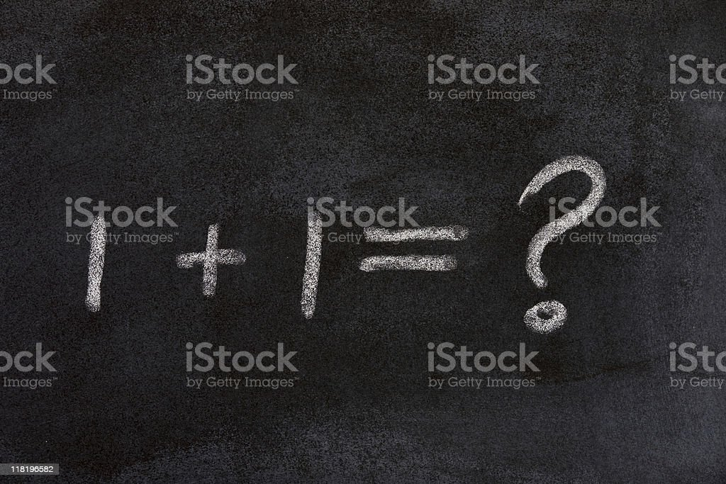 1+1=what royalty-free stock photo