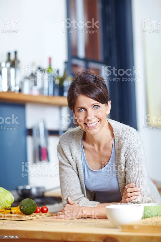 What shall I do with these ingredients? stock photo